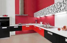 Kuchnia czarno-czerwona