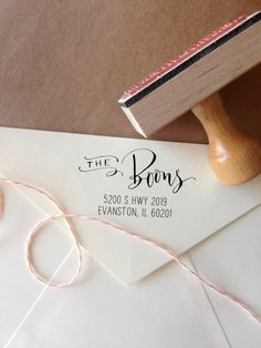 Custom Calligraphy Address Stamp Mixed by AngeliqueInk on Etsy