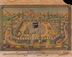 Mecca Wallpaper, Old M, Inspirational Artwork, Illuminated Manuscript, Islamic Art, Mosque, Archaeology, Art History, Old Books