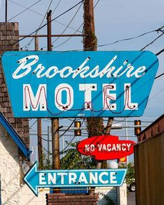 The photograph was taken by Roadside Gallery. The Brookshire Motel was built in the 1950's along Route 66 and will be one of the several motel/hotel accommodations this weekend at the Route 66 Marathon