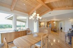 The dining area is adjacent to the kitchen. Designed and built by Quail Homes of Vancouver Washington.