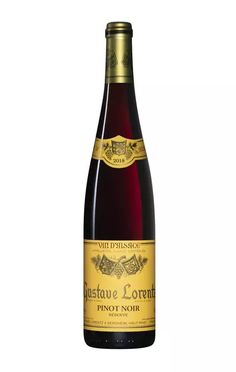 PINOT NOIR RÉSERVE 2018 - Nos Vignerons/Gustave LORENTZ - LAlsace en Bouteille Pinot Noir, Reserve, Drinks, Bottle, Drinking, Beverages, Flask, Drink, Jars