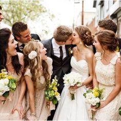 love the bridesmaids dresses!