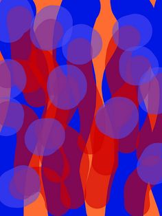 *abstract painting, art, colorful, red and blue* - mushies peering through the whooshed curtains, imakimou