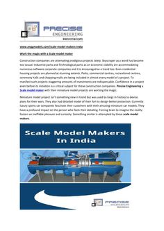 Work the magic with a scale model maker