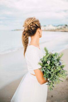 Dreamy Seaside Bridal Session Inspiration | Jamie Mercurio Photography | A Styled Affair