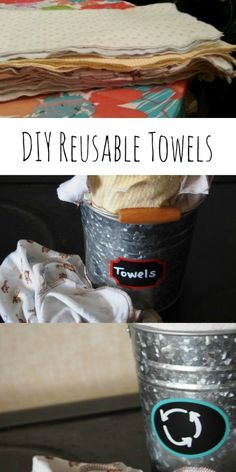 How to make reusable towels using receiving blankets.