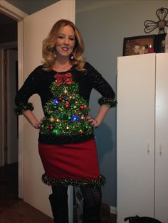 Ugly Christmas Sweaters - Ugly Christmas Sweater - Awesome Ugly Christmas Sweaters To Delight And Horrify Just About Everyone Couple Christmas, Tacky Christmas Party, Diy Ugly Christmas Sweater, Ugly Sweater Party, Christmas Costumes, Xmas Sweaters, Christmas Ideas, Christmas Clothing, Office Christmas