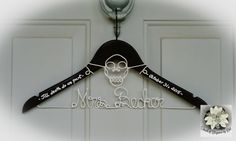 Hey, I found this really awesome Etsy listing at https://www.etsy.com/listing/286794395/skull-wedding-dress-hanger-halloween