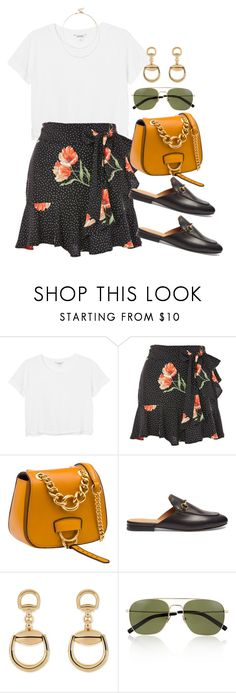 """""""Untitled #4248"""" by lily-tubman ❤ liked on Polyvore featuring Monki, Topshop, Miu Miu, Gucci, Yves Saint Laurent and Sole Society"""