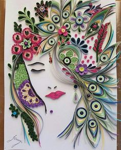 Beautiful quilled lady!