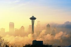 going there this summer! Foggy Apocalyptic Seattle by David M Hogan - Now on Google+ too, via Flickr