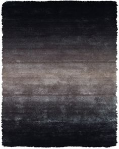 Plush Collection Art Silk Shag Area Rug in Gray by BD Fine