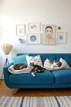 Die Katzenkörbchen stehen bei herrlichstem Sommerwetter alle auf Balkonien verteilt und wo liegen die drei Bepelzten? Typisch :wink: