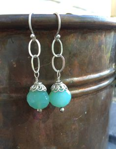 Destash Earrings Sale - Sterling Silver Chalcedony Earrings. Tilliegirlstudio by Tilliegirlstudio on Etsy