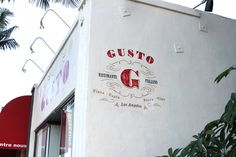 Gusto Vic Casanova Iron Chef Beverly Hills Painted Signs #starrstudios #dallas