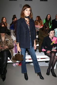 The Takeaway: Bring a blazer and jeans to the next level with a skinny neck scarf.   - HarpersBAZAAR.com