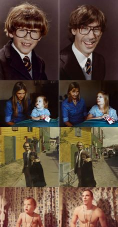 Irina Werning recreates photographs and portraits to transcend time Childhood Photos Recreated, Beautiful People Photography, Time Based Art, Photo Recreation, Awkward Family Photos, Photography Themes, Past Present Future, Create Photo, Human Condition