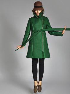 *PREORDER* Hoodless Emily In Insulated WonderFelt - Emerald + Black + - VauteCouture