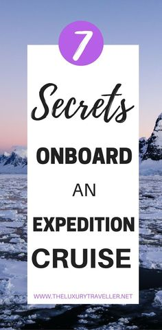 Top 7 Antarctica Secrets On An Expedition Cruise I Do you dream of visiting Antarctica? This board is kept with the best kept Antarctica Secrets and experiences that you can find on an expedition cruise holiday. From roaming with polar bears to watching glaciers, can you keep the best Antarctica secrets?