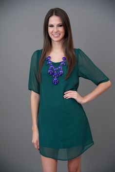 EVERLY: Happily Ever Afternoon Dress-Green