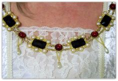 Replica of Elizabeth I coronation collar Medieval Necklace  Renaissance Jewelry by TreasuresForAQueen, $165.00