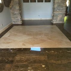 Travertine and Marble entry Tile Installation, Carpet Tiles, Travertine, Hardwood, Marble, Bathtub, Standing Bath, Natural Wood, Bathtubs