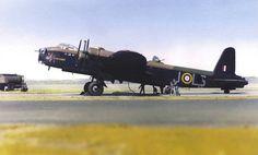 Short Stirling bomber. Royal Air Force, Ww2 Aircraft, Nose Art, Aviation Art, Aeroplanes, Vintage Trucks, World War Two, Crane, Wwii