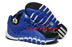 san francisco 48a88 b0616 Hot Adidas Adizero Rose 4.5 Blue Black White Shoes On Sale Cheap Adidas  Shoes, White