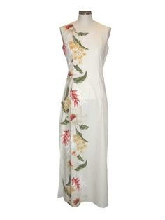TROPICAL FLOWERS HAWAIIAN LONG TANK DRESS, S, WHITE KY INTERNATIONAL http://www.amazon.com/dp/B004YEN398/ref=cm_sw_r_pi_dp_uFVQub10AHJ0T