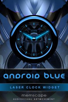 Laser Clock ANDROID BLUE v2.1.5 apk  Requirements: 1.5 and up  Overview: ANDROID BLUE is an stylish laser clock widget, a blend of modern and futuristic design.