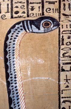 Ancient Egyptian Fresco of a Snake