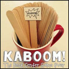 Do you use Kaboom! in your classroom? It has been my go-to center for the past few years, whether I'm teaching Firsties, or now third grader...