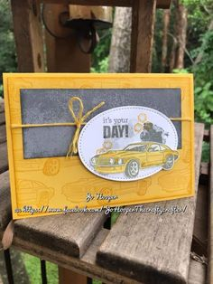 Geared up garage - Stampin' Up! geared up garage - Masculine Birthday Cards, Birthday Cards For Men, Masculine Cards, Stampin Up Karten, Stampin Up Cards, Scrapbooking, Scrapbook Cards, Bosses Day Cards, Boy Cards