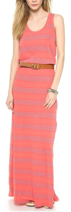 striped maxi dress in #coral http://rstyle.me/n/kjxpdr9te