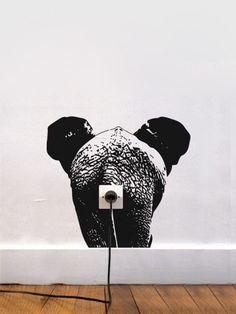 Zoo Eléphant wallsticker - kids - I/OBJECT