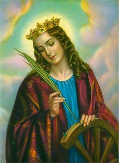 Saint Catherine of Alexandria Holly Pictures, Print Pictures, Christian Images, Christian Art, Catholic Art, Catholic Saints, Religious Icons, Religious Art, Beata Santa Catarina