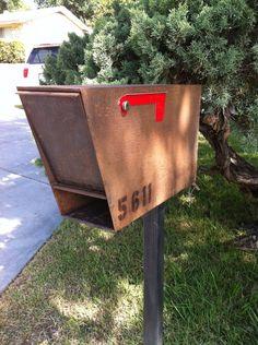 wrought iron gates, welded steel desks, custom desk, custom modern mailbox…