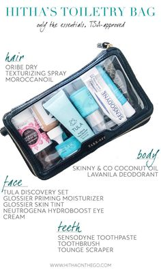 All the travel toiletries you need. Nothing you don't. AND TSA-carry-on-approved.