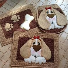 17 ideas patchwork patterns kitchen quilted potholders for 2020 Mini Quilts, Dog Quilts, Animal Quilts, Small Quilts, Mug Rug Patterns, Patchwork Patterns, Applique Patterns, Applique Quilts, Quilt Patterns