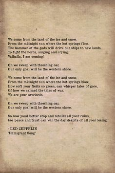Led Zeppelin That S The Way One Of My Favorite Lyrics From Zeppelin And Total Aquarius Song