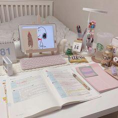 Study Room Decor, Study Rooms, Study Desk, Study Space, Room Ideas Bedroom, Bedroom Decor, Study Areas, Study Corner, Cute Room Ideas