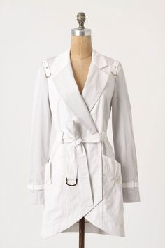 Obvi I need a white trench!