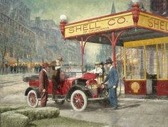 The Shell Station ....Hot Rod Art by Rat Rod Studios, RatRodStudios.com