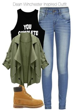 """""""Supernatural - Dean Winchester Inspired Outfit with requested shoes"""" by staystronng ❤ liked on Polyvore"""