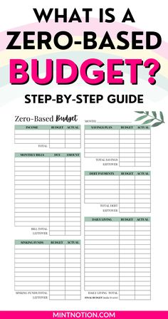What is a zero-based budget? Zero-based budgeting is a simple and flexible way of budgeting where your income minus expenses equal zero. It's an effective way to get your money under control, pay down debt, and reach your savings goals. Includes a free zero-based budget template printable. Frugal Living Tips, Frugal Tips, Ways To Save Money, Money Saving Tips, Total Money Makeover, Life On A Budget, Sinking Funds, Debt Free Living, Paying Off Student Loans