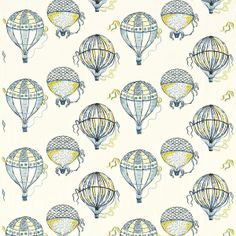 Beautiful Balloons Fabric Cobalt Yellow 232297, £83.00 (http://www.britishwallpapers.co.uk/beautiful-balloons-fabric-cobalt-yellow-232297/)
