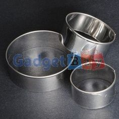 3Pcs Stainless Steel Round Circle Cookie Fondant Cake Gum Paste Mould Cutter