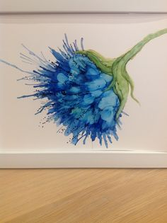 Alcohol ink on yupo,Jayne vanner.                                                                                                                                                     More
