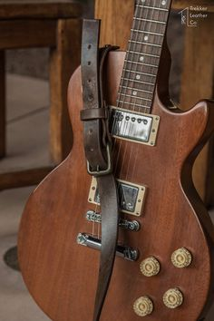 Cuero correa de guitarra Correas de guitarra por TrekkerLeatherCo
